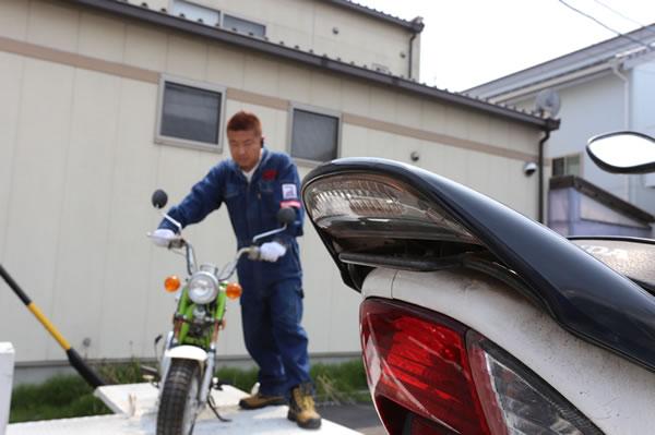 岡崎へ出張してバイクの廃車を代行します。